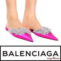 【国内発送】Balenciaga スリッパ Embellished satin slippers