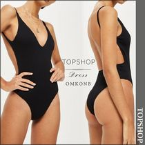 【国内発送・関税込】TOPSHOP★Ribbed Plunge Swimsuit