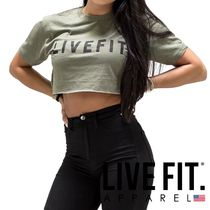 Live Fit(リブフィット) Tシャツ・カットソー LIVEFIT.★LIVEFIT CROP Tee - Military Green