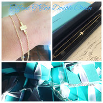 【Tiffany】T Two Double Chain Bracelet 18k gold, rose gold