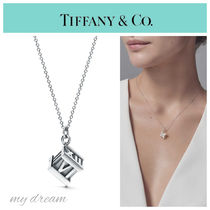 【Tiffany & Co】ATLAS Cube Pendant in Sterling Silver
