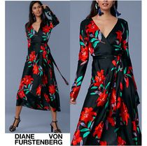 セール!DVF Tilly Long-Sleeve Woven Wrap Dress お早めに