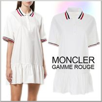 18SS★MONCLER GAMME ROUGE シルク混コットン ポロ ワンピース