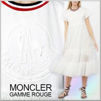 18SS★MONCLER GAMME ROUGE ロゴ入り チュール ドレス ALEYNA