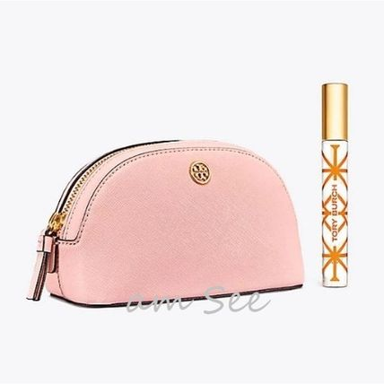Tory Burch メイクポーチ 【2018SS】Tory Burch ROBINSON コスメポーチ Pale Apricot