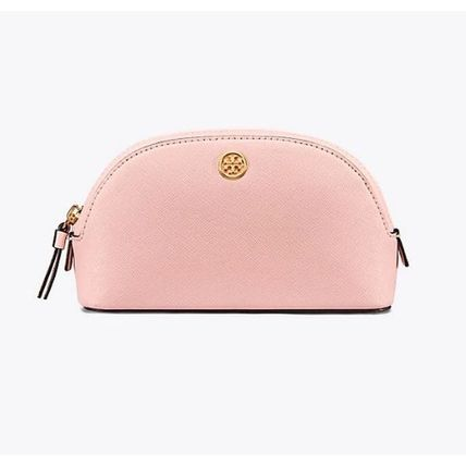 Tory Burch メイクポーチ 【2018SS】Tory Burch ROBINSON コスメポーチ Pale Apricot(4)