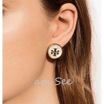 【2018SS】Tory Burch ハーフストーンピアス Mother Of Pearl