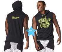 H30.6月【ZUMBA】Believe In Magic Sleeveless Hoodie Z2T00341