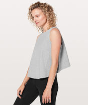 Blissed Out Tank*後ろが短め丈+ハイネック*Core Light Grey