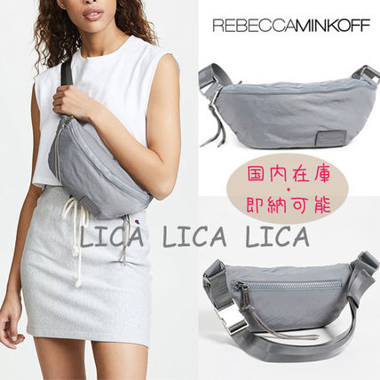 国内在庫・即納可能 Rebecca Minkoff Nylon Belt Bag Grey