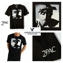 American Eagle Outfitters(アメリカンイーグル) Tシャツ・カットソー ☆完売品☆ 限定 2pac グラフィック Tシャツ ブラック
