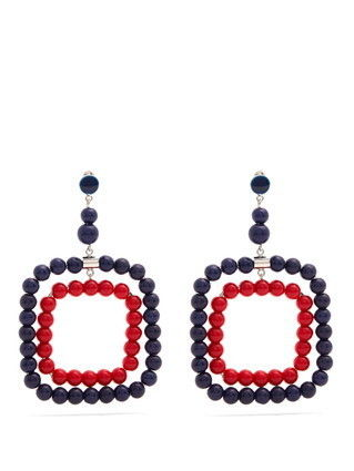 MARNI ピアス 【MARNI】Beaded square-hoop earrings 5422(2)