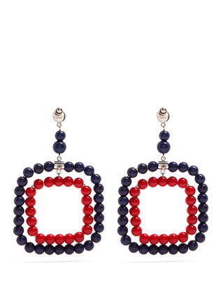 MARNI ピアス 【MARNI】Beaded square-hoop earrings 5422(4)