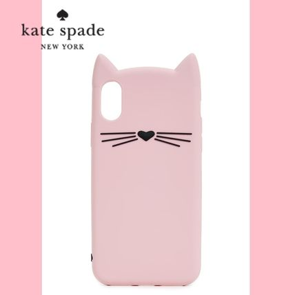 kate spade new york スマホケース・テックアクセサリー 【kate spade】Silicone Cat  iPhone 8 / iPhone 7 Case