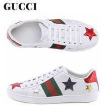 GUCCI正規品/超特急EMS/送料込み Ace Star Patch Sneakers