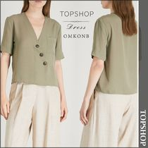 【国内発送・関税込】TOPSHOP★Ashley asymmetric buttonedshirt