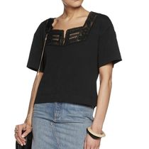 See by Chloe(シーバイクロエ) Lace-trimmed Cotton-jersey Top