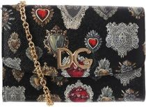 D&G○ss18 Sacred ハート プリント Dauphine クラッチバッグ