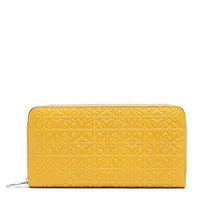 【LOEWE】Zip Around Wallet Yellow Mango