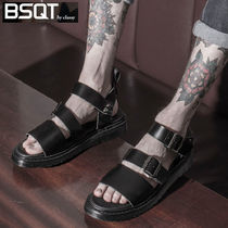 ◆BSQT◆BRUSSELS DOUBLE STRAP SANDALS AQUA BLACK 23CM-29CM