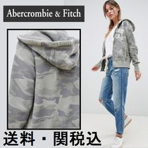 Abercrombie & Fitch Authentic ロゴ ジップ フーディー 迷彩