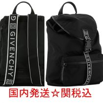 GIVENCHY★ナイロン ロゴテープバックパック送関込