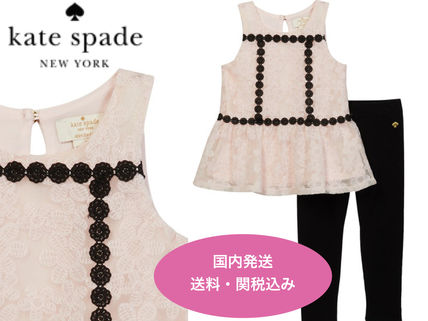 kate spade new york ベビーワンピース SALE!!【kate spade】Floral Mesh Top and Leggings Set
