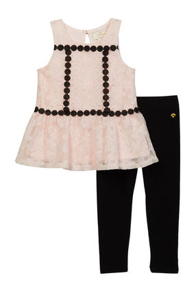 kate spade new york ベビーワンピース SALE!!【kate spade】Floral Mesh Top and Leggings Set(2)