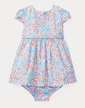 新作♪ 国内発送 Floral Cotton Dress & Bloomer girls 0~24M