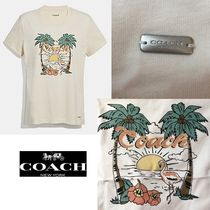 レア入荷SALE! 即発送 COACH BLUE HAWAII T-SHIRT F29074
