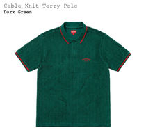 Cable Knit Terry Polo / Dark Green / サイズ L