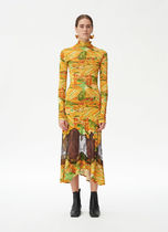 18SS Lace dress in printed viscose