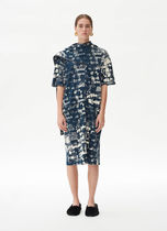 18SS T-shirt dress in printed cotton jersey