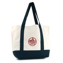 トレーダージョーズ TRADER JOE'S CANVAS BAG 色:NAVY WHITE