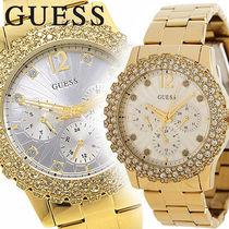 G BY GUESS(ジーバイゲス) アナログ腕時計 GUESS Gold Multi Function Crystallized レディース U0335L2