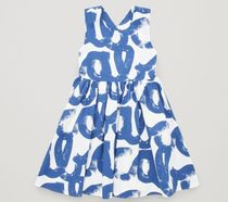 """COS(コス) キッズワンピース・オールインワン """"COS KIDS""""  A-LINE DRESS WITH GATHERED DETAIL BLUE"""