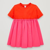 """COS(コス) キッズワンピース・オールインワン """"COS KIDS"""" GATHERED T-SHIRT DRESS RED"""