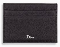 DIOR HOMME Black Grained Calfskin Card Holder