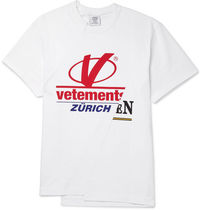 VIPSALE VETEMENTS Cut & Sew Asymmetric Printed