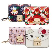 FURLA x KITTY Metropolis Mini Print Leather Crossbody bag