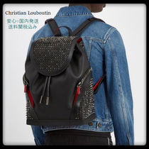 NEW☆ LOUBOUTIN Explorafunk spike-embellished backpack 02