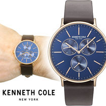 Kenneth Cole(ケネスコール) アナログ時計 Kenneth Cole Brown Multifunction レザー メンズ KC14946005