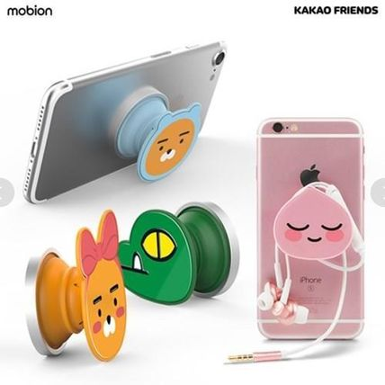 KAKAO FRIENDS スマホケース・テックアクセサリー 【KAKAO FRIENDS】Smart Grip Talk Slim Mobile Phone Cradle