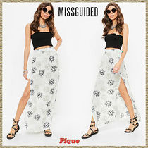 Missguided★サンプリントスプリットマキシスカート