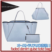 【State of Escape】フェイドデニム◆Guise tote bag◆ポーチ付!