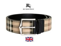 18AW BURBERRY  バーバリー Haymarke Check belt 4062513 ベルト