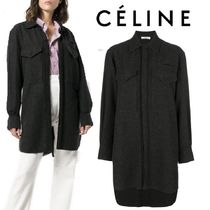 【18AW】大注目★CELINE★double chest pocket oversized shirt