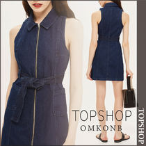 【国内発送・関税込】TOPSHOP★Zip-Up Denim Dress