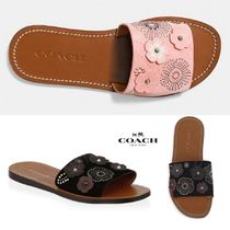 *関税込*Coach◎Tea Rose Rivet Suede Slides*SALE*国内発送
