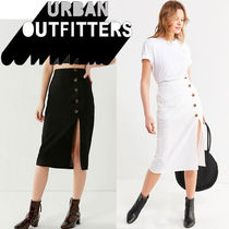 ● Urban Outfitters ●人気 リネン ボタン ミディスカート 2色